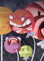 Really angry lollipops