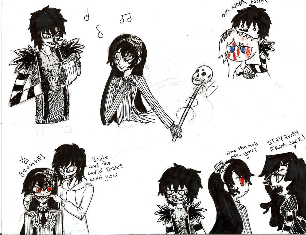 Creepy Pasta Sketches by HimekoHimemiya1313