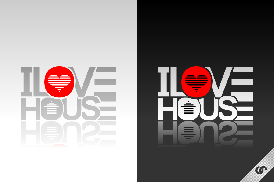 I Love House Logo by dFEVER