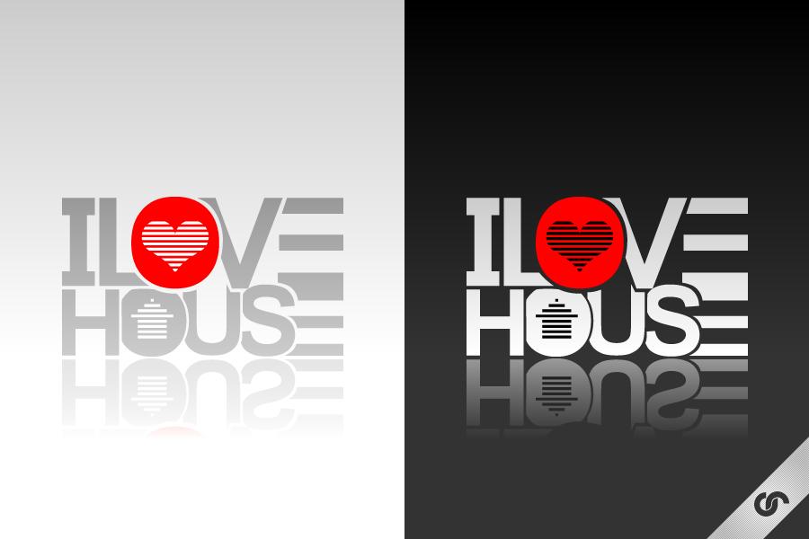 I Love House Logo by dFEVER