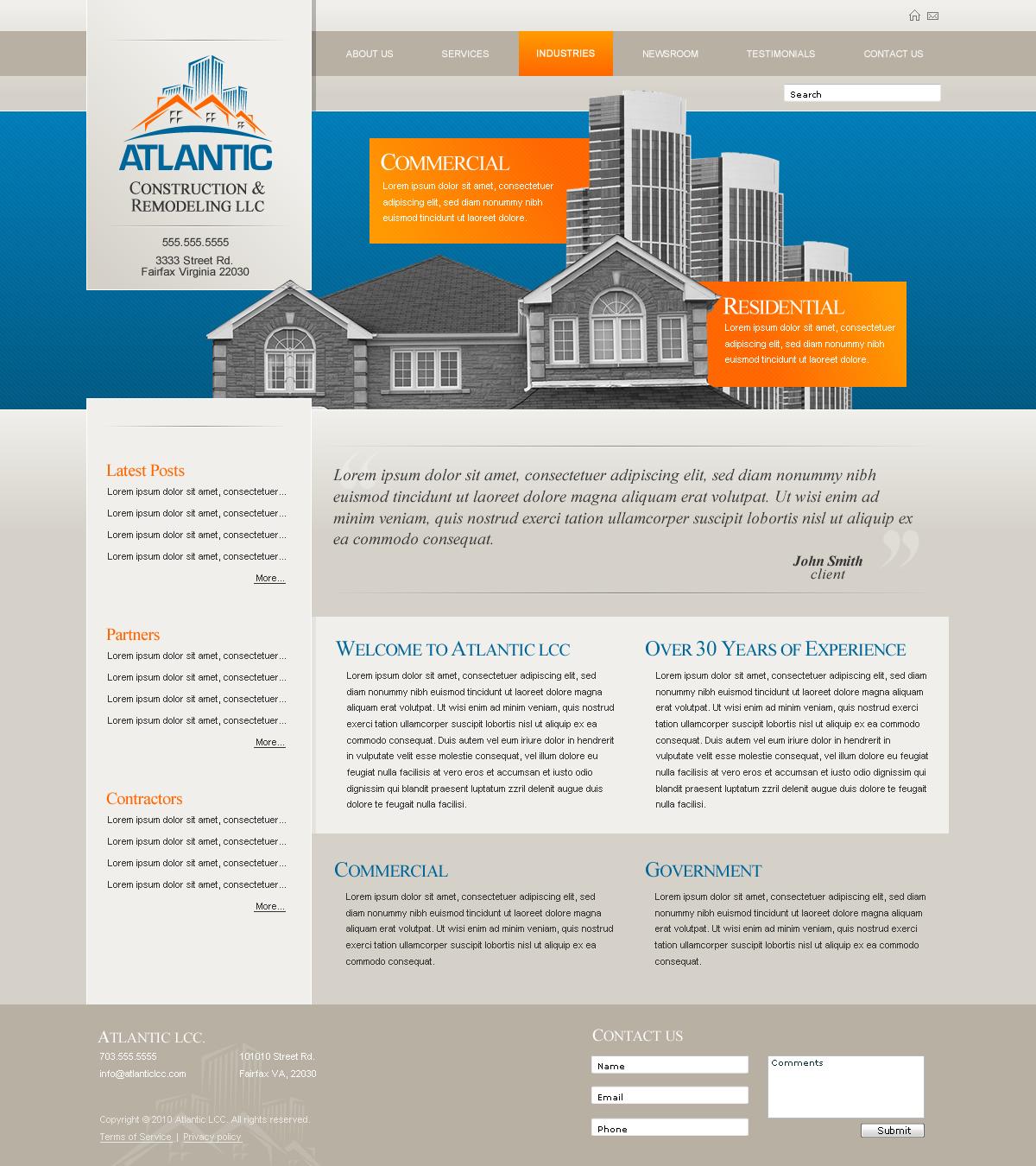 Atlantic CR Website by dFEVER