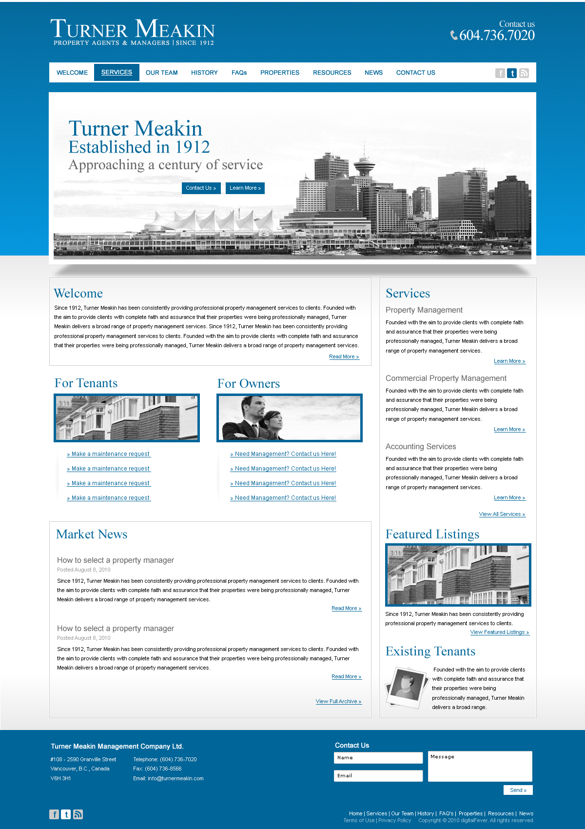 Turner Meakin Web Design by dFEVER