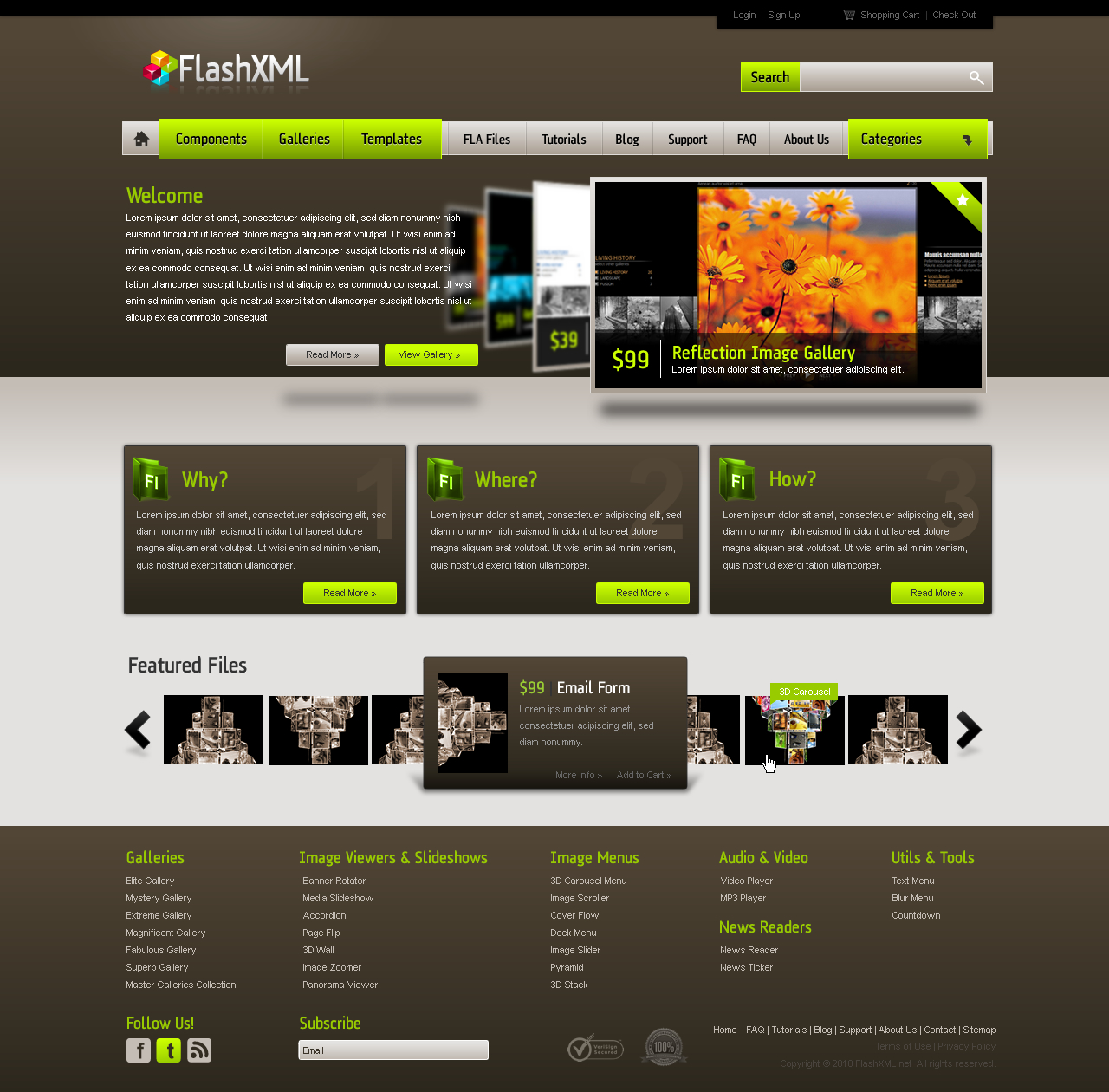 Profile Web Design Inspiration