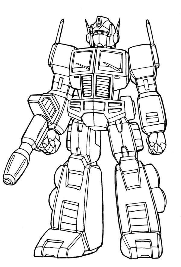 Optimus Prime lineart by nakoshinobi on DeviantArt