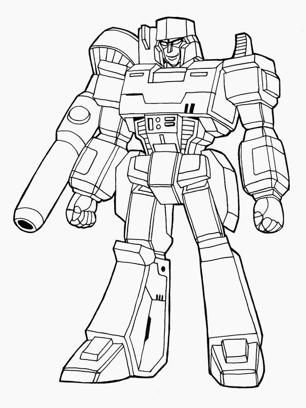 Megatron lineart by nakoshinobi on deviantart for Transformers coloring pages megatron