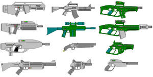 A collection of weapons