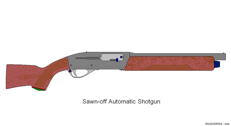 Sawn-off auto shotgun by scifibug