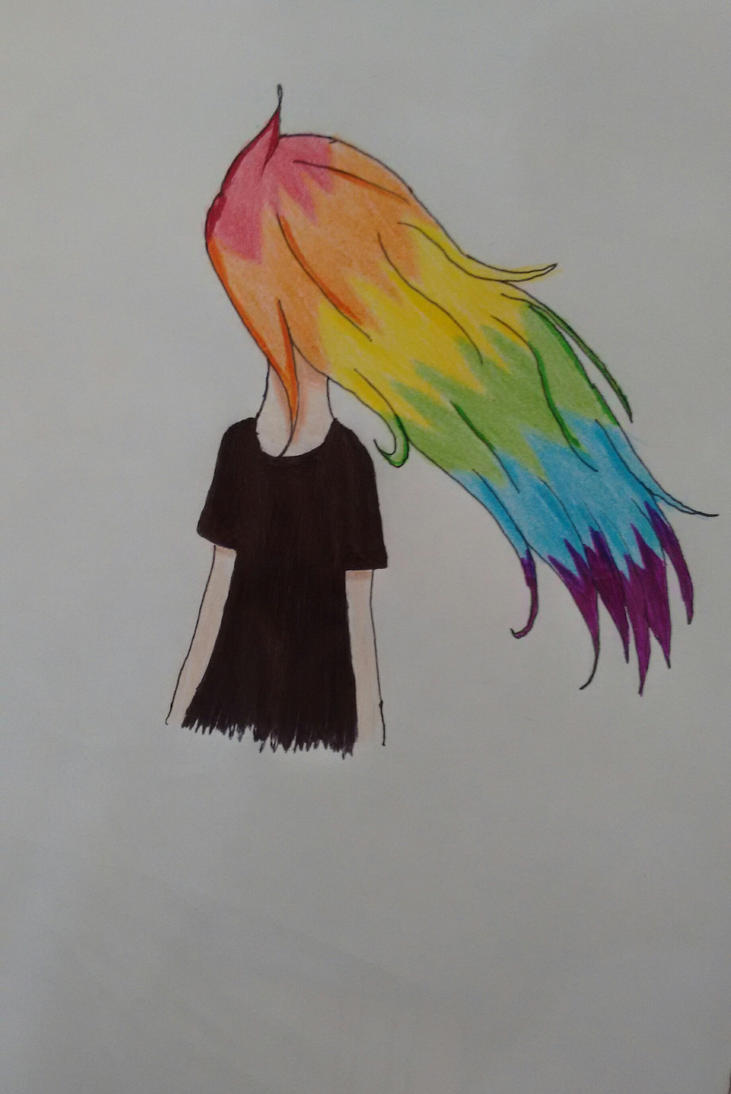 Raibow hair by b0nb0n456