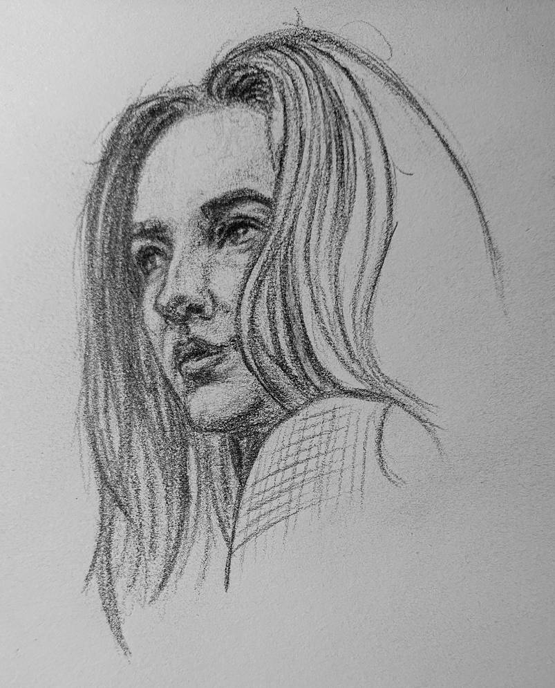 Quick portrait sketch by 93Oasys
