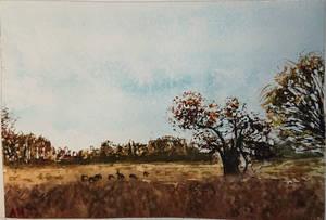 Miniature Watercolor Landscape
