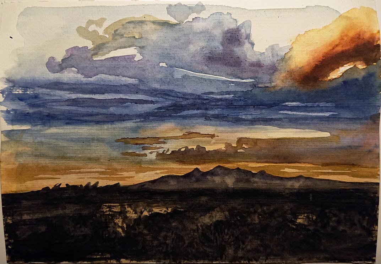 Watercolor Sky Practice by 93Oasys