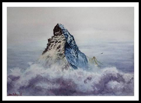 Mt. Matterhorn Watercolor