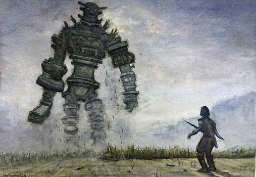 Shadow of the Colossus Watercolor