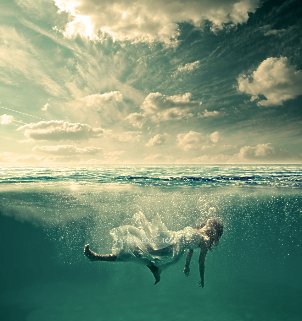 Image result for woman drowning art