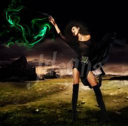 Thalia as Bellatrix Lestrange by mjudith