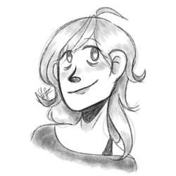 Self portrait using pog brush