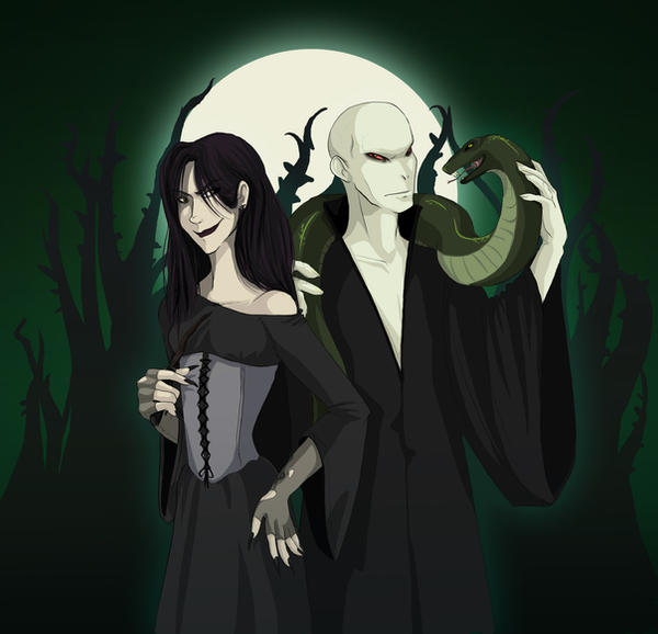 Bellatrix and Voldemort by mysticcookie