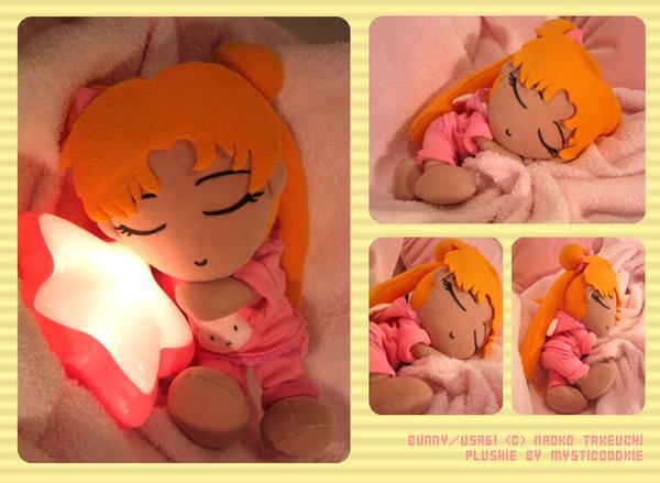 Sleepy Usagi Plushie by mysticcookie