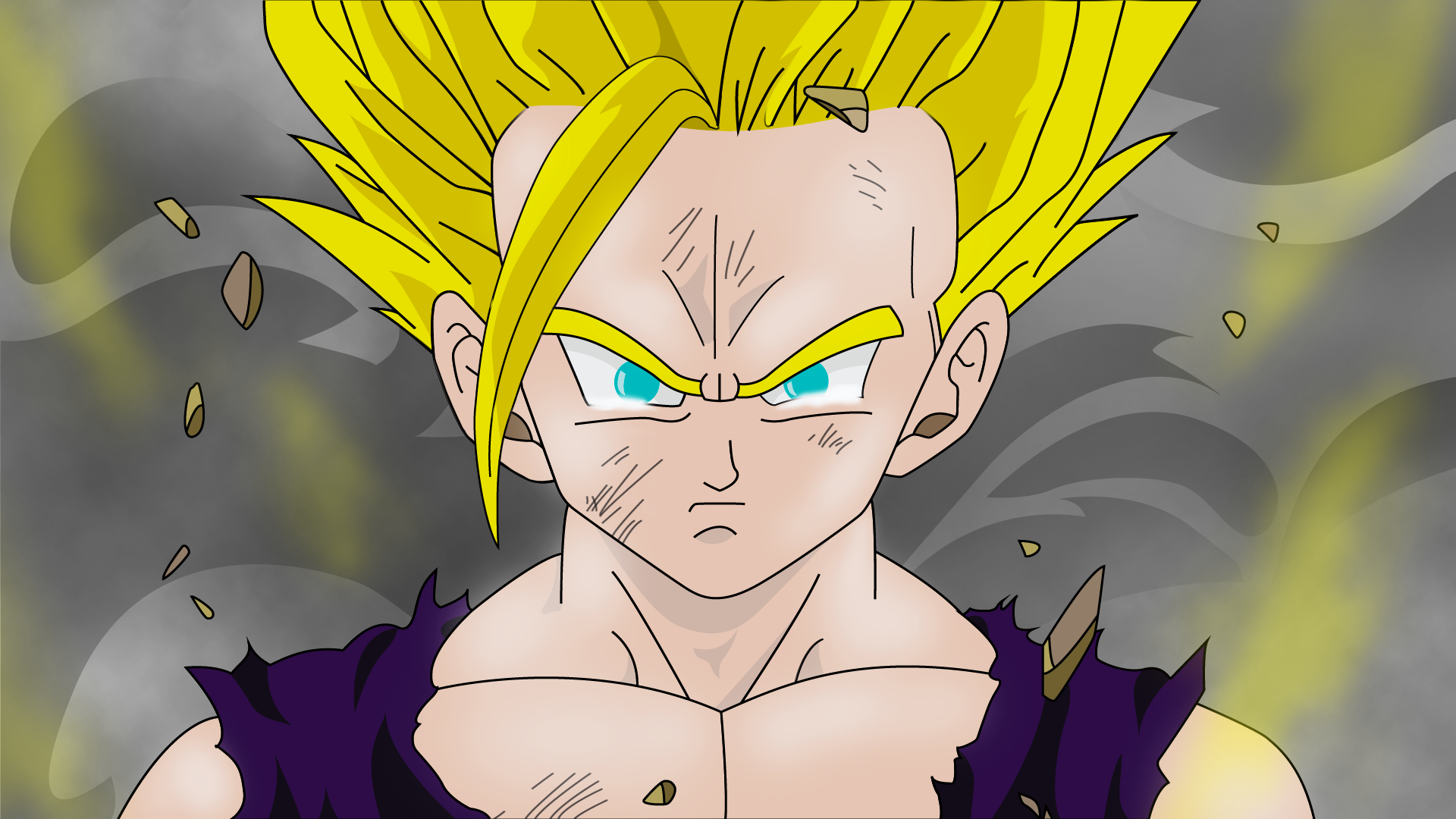 Gohan Super Saiyan 2 Wallpaper By Nickz95 On Deviantart