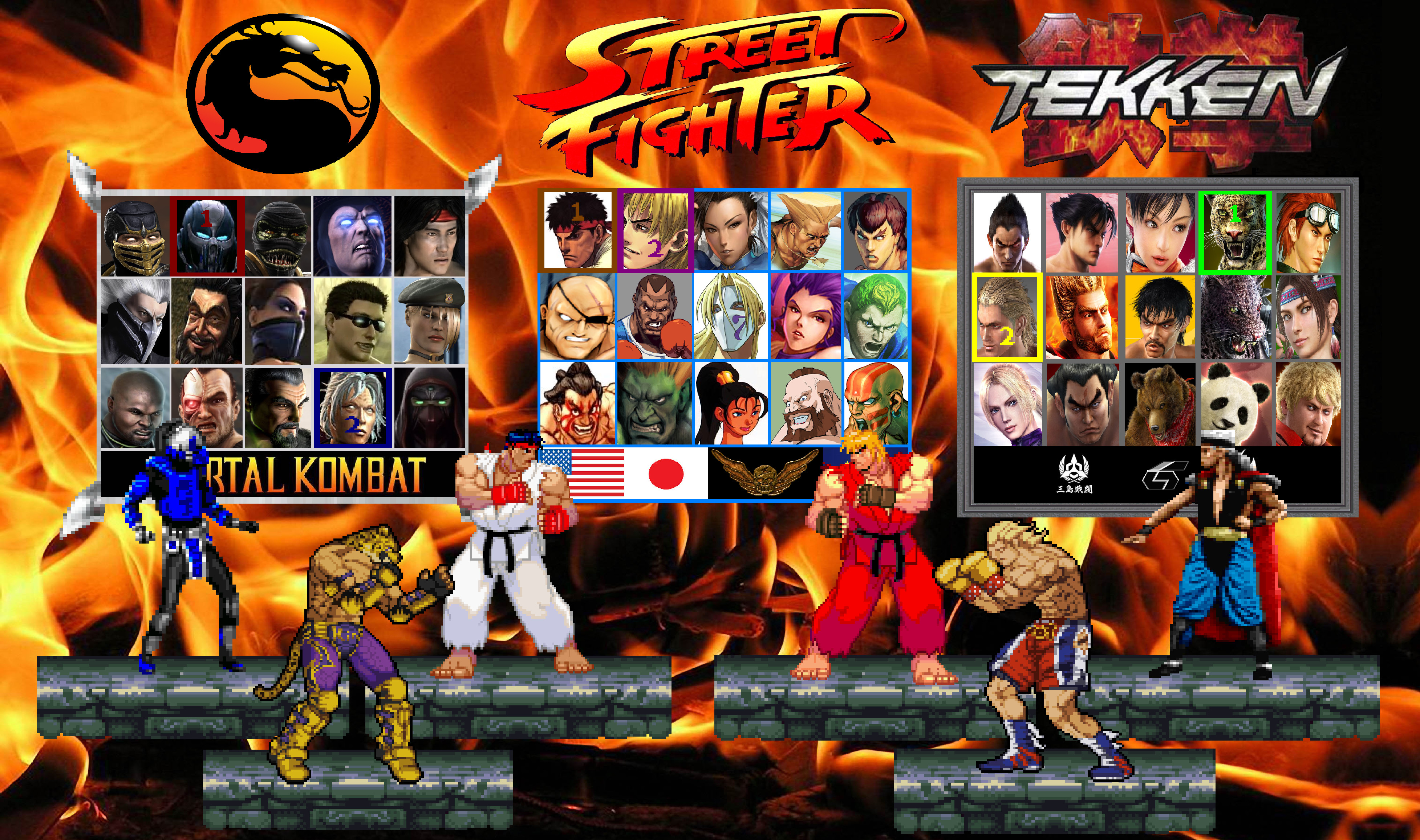 MK X SF X TK Character Select Screen by Gery850 on DeviantArt