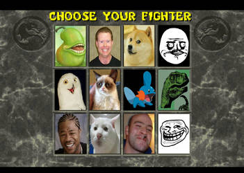 Meme Fighter Character Select Screen by Gery850