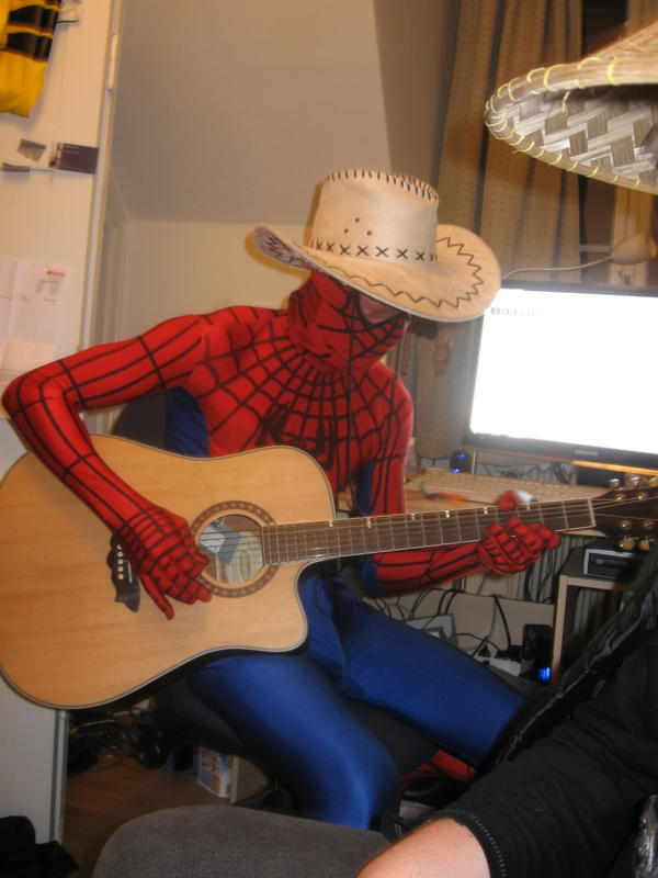 Spiderman playing Guitar by melitooh