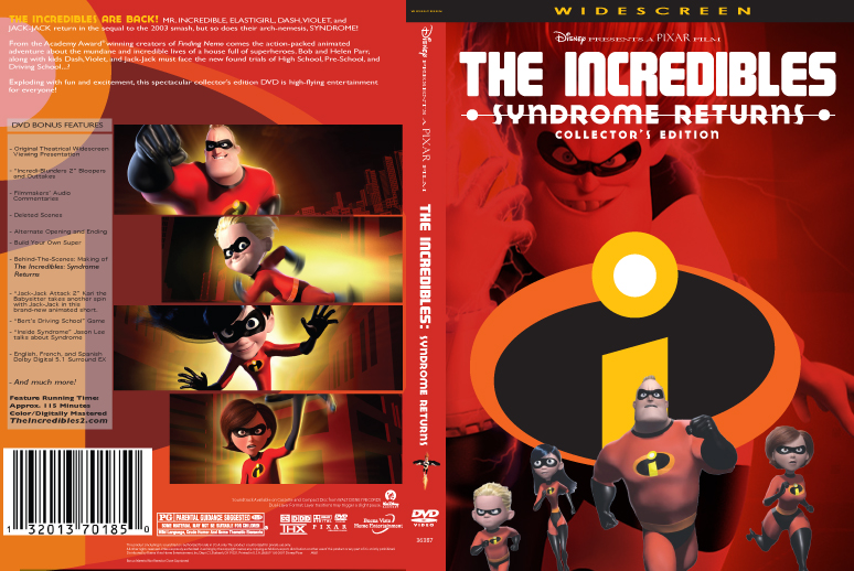The Incredibles 2 DVD By JNVaughan1983