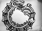 Aztec circle of life-Dragon