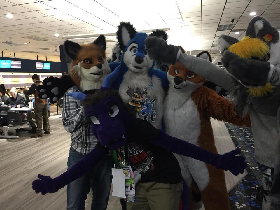 Dergon + Foxies + Fotobomber - #FursuitFriday by JHAnimalloverVA9