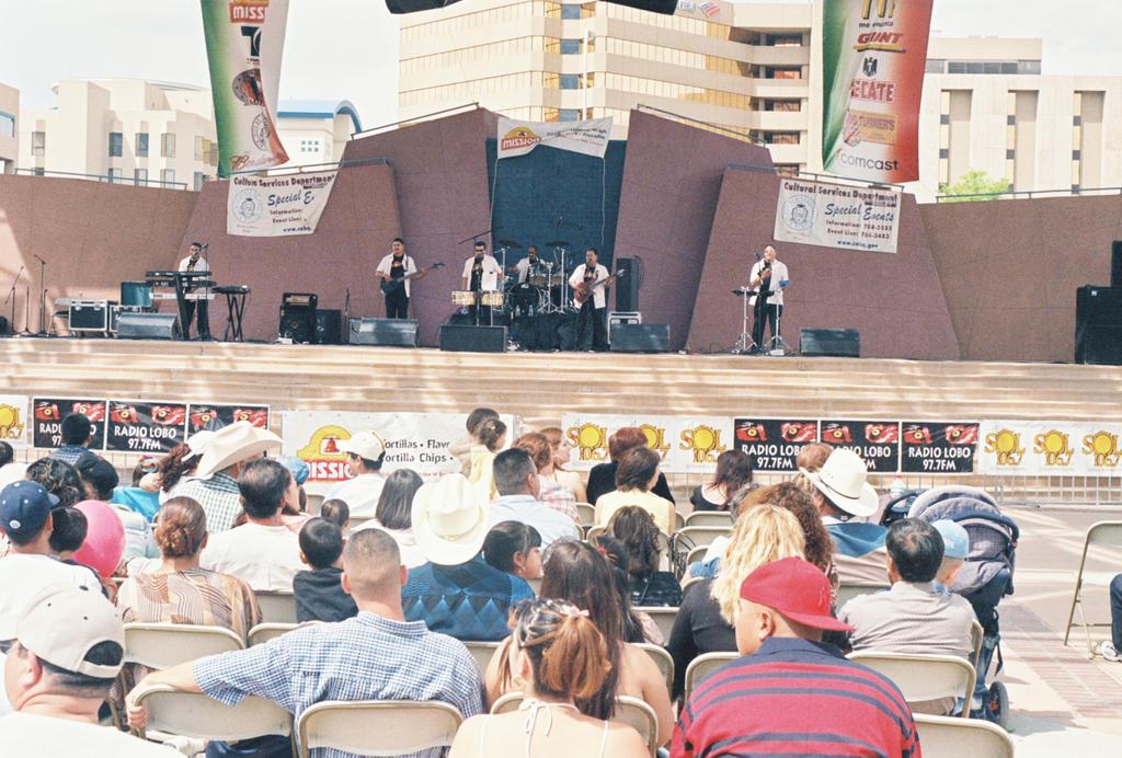 Salsa Band Performing at Civic Plaza #1 by Texas1964