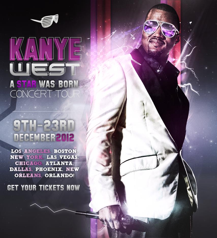 kanye west tour poster by shahithakilla on deviantart