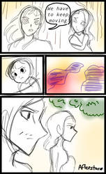 A Messy Draft of Afterstar comic by CBMULTI