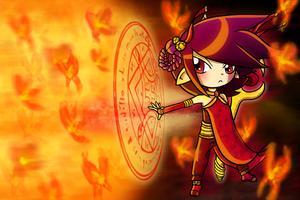 Alexis Arte: Spiral Flame by Kosumosu