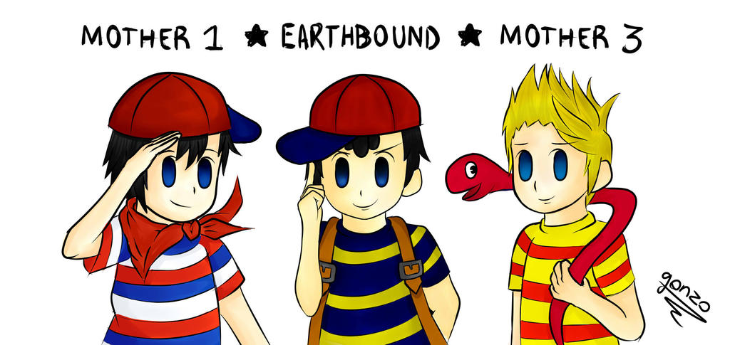Ness And Ninten In Colour By Thebigj94 On Deviantart - Imagez co