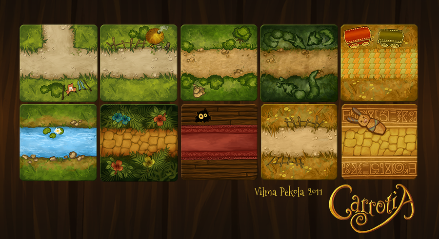 Carrotia Tiles by Sirtuuna