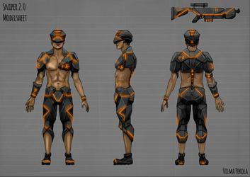 Sniper 2.0 Modelsheet by Sirtuuna