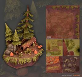 Handpainted Forest Scene by Sirtuuna