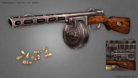 Handpainted Gun by Sirtuuna