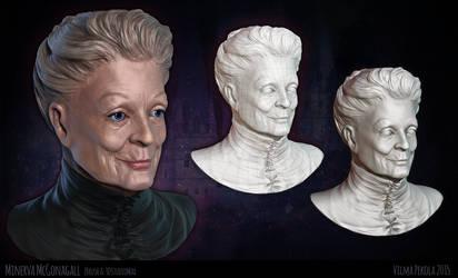 Minerva McGonagall Zbrush sculpt by Sirtuuna