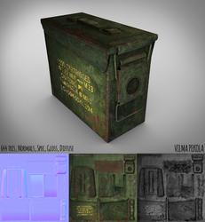 Low Poly Ammobox by Sirtuuna