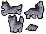 Sticker Wolves- Kovo Edition