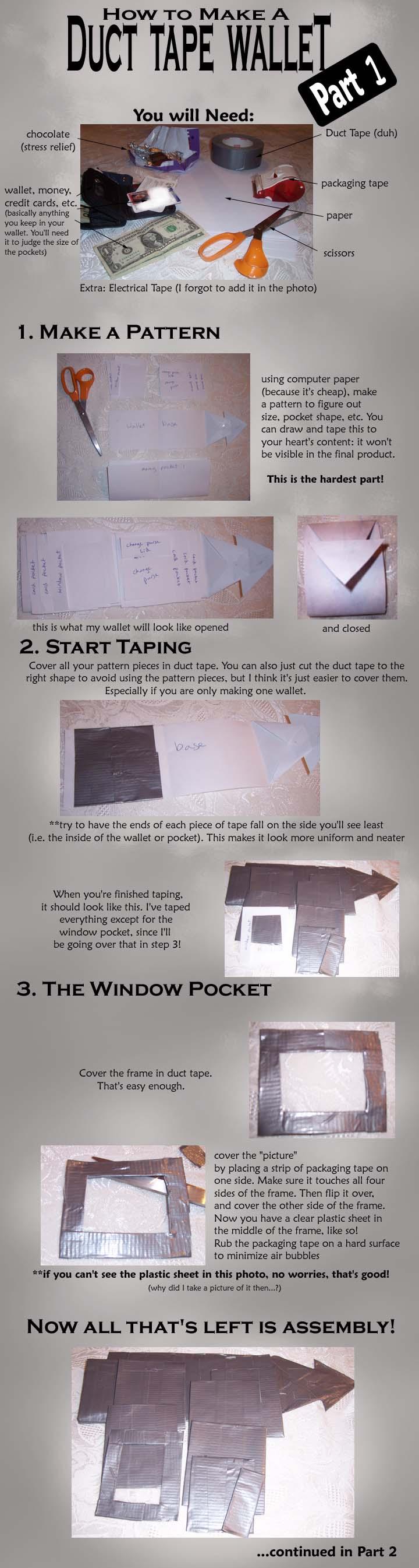 Duct Tape Wallet Tutorial 1 by akireru on DeviantArt