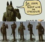 Mobster Anubis- Prelim Sculpt