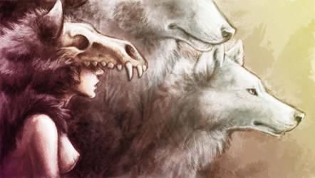 wolf girl by akireru
