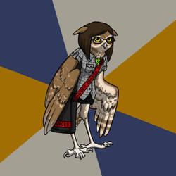 Art Student Owl by akireru