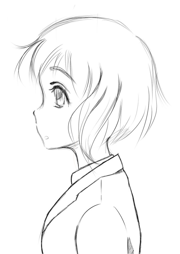 Anime Girl Side View By Madicomicsemalaysia On Deviantart