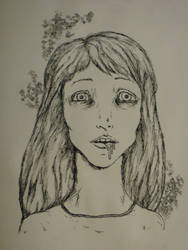 Brainwashed zombie girl