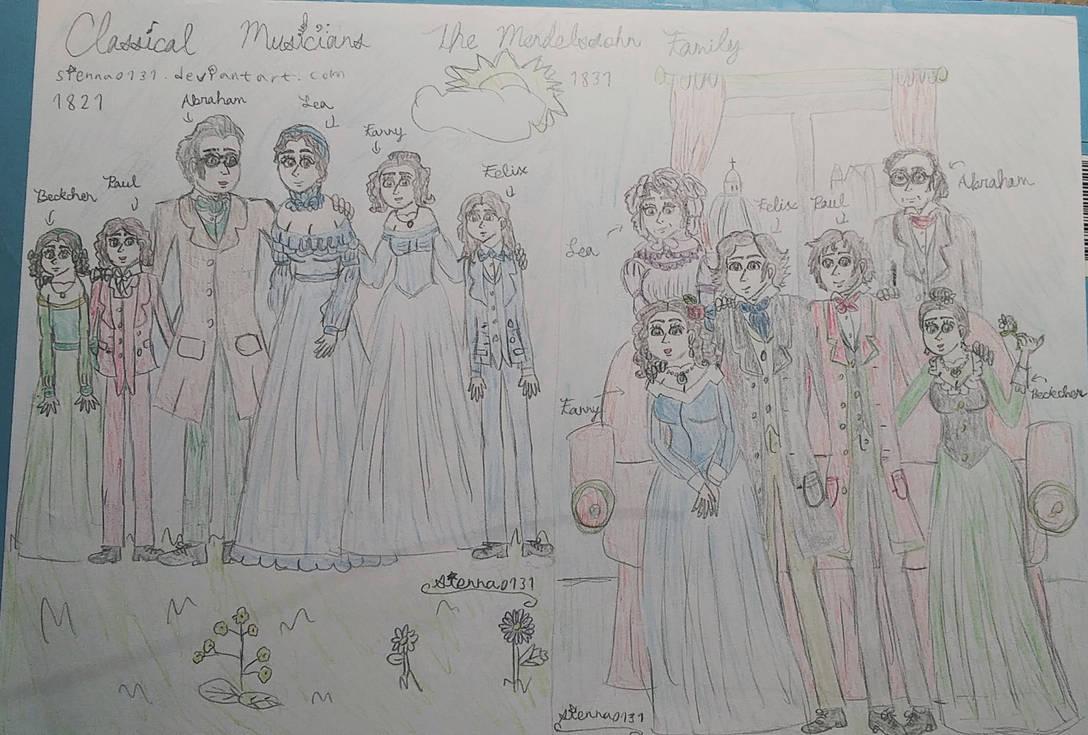 The Mendelssohn family by sienna0131