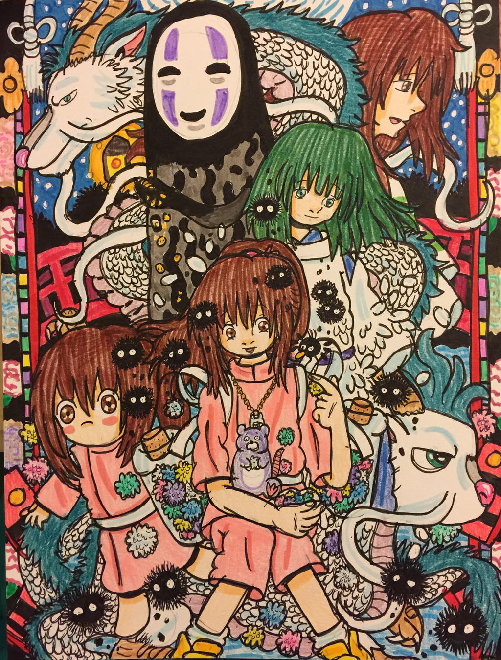Spirited Away Spiritual River Of The Spirits By Ghiblilover92 On Deviantart
