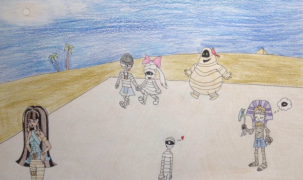 Mummy Party by DarkGoth100